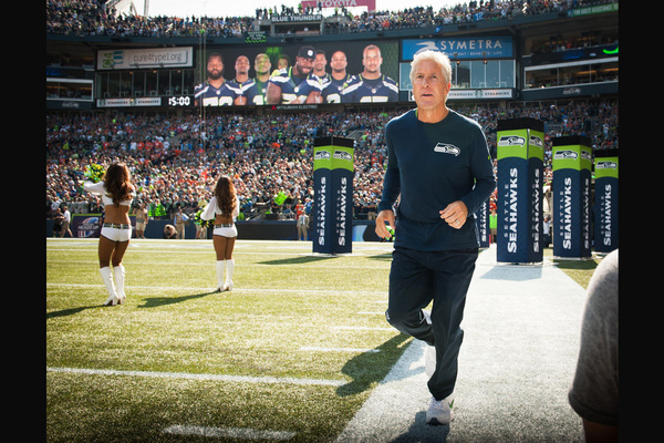 Pete Carroll/head coach, Seattle Seahawks